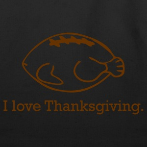 Thanksgiving Turkey & Football - Eco-Friendly Cotton Tote