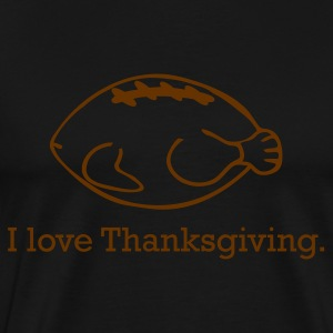 Thanksgiving Turkey & Football - Men's Premium T-Shirt