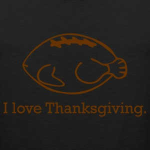 Thanksgiving Turkey & Football - Men's Premium Tank
