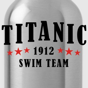 Black/white Titanic Swim Team Men - Water Bottle