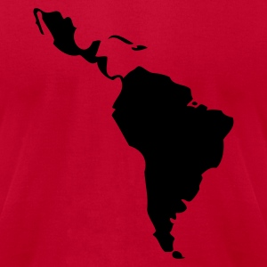 Red Latin America - South America Women - Men's T-Shirt by American Apparel