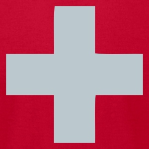 Red Switzerland - Swiss Cross Women - Men's T-Shirt by American Apparel