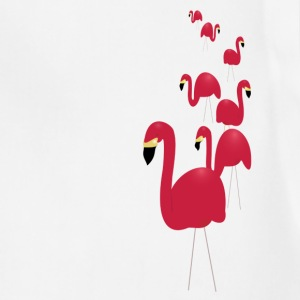 White Pink Flamingos Men - Adjustable Apron