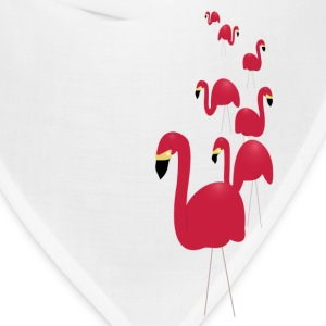 White Pink Flamingos Men - Bandana