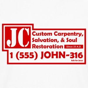 White JC Salvation Co. Sweatshirt - Men's Premium Long Sleeve T-Shirt