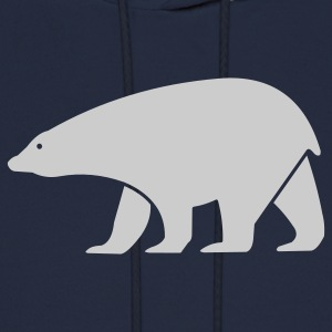 Navy polar bear Women - Men's Hoodie