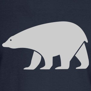 Navy polar bear Women - Men's Long Sleeve T-Shirt