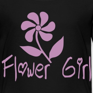 Black Flower Girl Kids & Baby - Toddler Premium T-Shirt