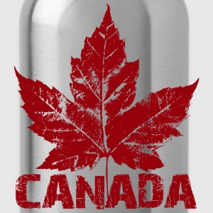 Cool Retro Canada T-shirt Ladies Maple Leaf Canada Shirt - Water Bottle