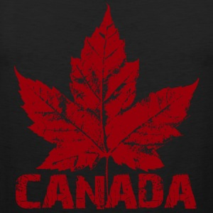 Cool Retro Canada T-shirt Ladies Maple Leaf Canada Shirt - Men's Premium Tank