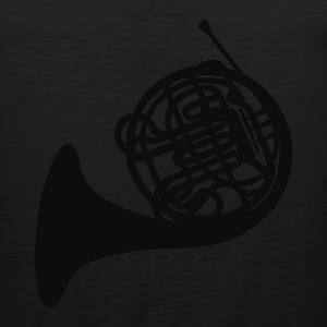 Black French Horn Women's T-Shirts - Men's Premium Tank