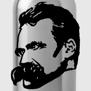 Red Friedrich Nietzsche Men - Water Bottle