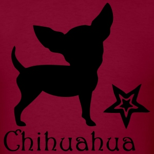 Burgundy chihuahua0v1 Sweatshirt - Men's T-Shirt