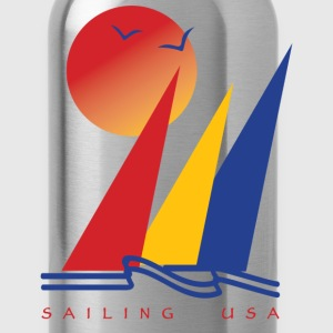 Sailing USA - Water Bottle