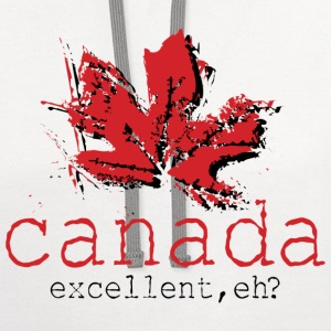 Canada Excellent, eh? - Contrast Hoodie