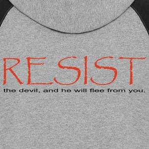Gray Resist the Devil  Women - Colorblock Hoodie