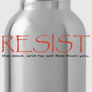 Gray Resist the Devil  Women - Water Bottle
