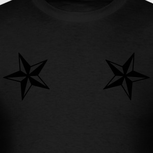 Black dual_nautical_stars Jacket - Men's T-Shirt