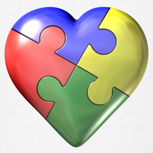 Autism awareness puzzle heart - Men's T-Shirt