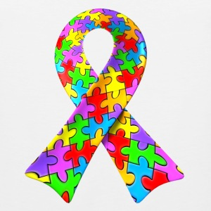 Autism awareness puzzle ribbon - Men's Premium Tank