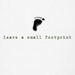 Leave a Small Footprint - Men's T-Shirt