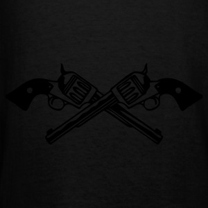 Black six_guns_low Men - Men's T-Shirt