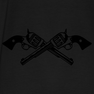 Black six_guns_low Men - Men's Premium T-Shirt