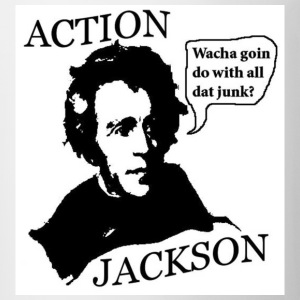 White Action Jackson Wacha goin do with all dat junk? Men - Coffee/Tea Mug