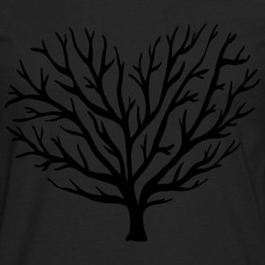Love shaped tree tee - Men's Premium Long Sleeve T-Shirt