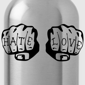 FIST OF LOVE AND HATE by VAN TRIBE  - Water Bottle