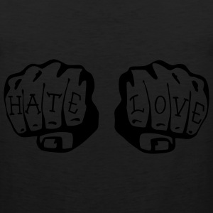 FIST OF LOVE AND HATE by VAN TRIBE  - Men's Premium Tank