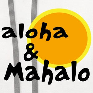 White Aloha and Mahalo With Two-Toned Sun Kids & Baby - Contrast Hoodie