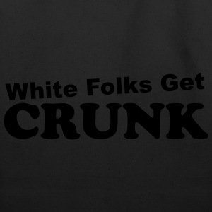 White Folks Get Crunk Logo T - Cyan - Eco-Friendly Cotton Tote
