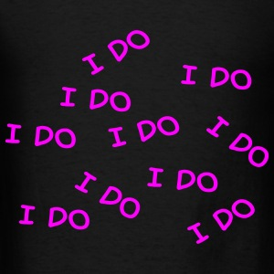Black I do Accessories - Men's T-Shirt
