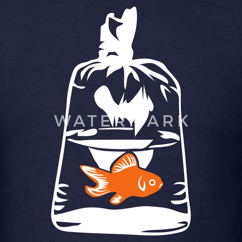Navy Goldfish Bag Men - Men's T-Shirt