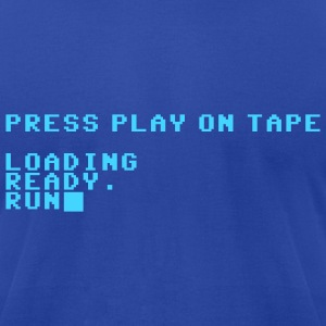 Royal blue Press Play on Tape Men - Men's T-Shirt by American Apparel