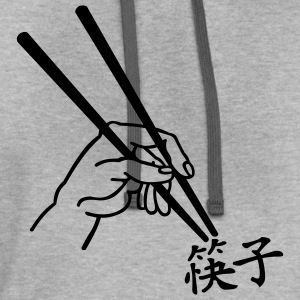 Ash  Chopsticks - Chinese Men - Contrast Hoodie