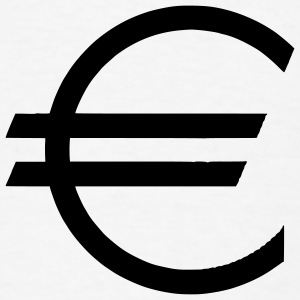 White Euro - Currency - Money - Dollar Accessories - Men's T-Shirt