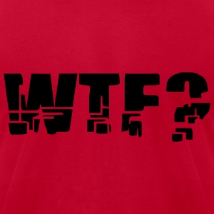 Red WTF? Men - Men's T-Shirt by American Apparel