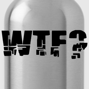 Red WTF? Men - Water Bottle