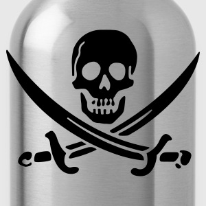 Black Classic Jolly Roger (vector) Women - Water Bottle