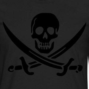 Black Classic Jolly Roger (vector) Women - Men's Premium Long Sleeve T-Shirt