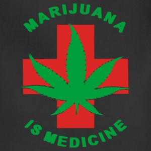 marijuana is medicine - Adjustable Apron