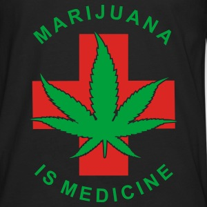 marijuana is medicine - Men's Premium Long Sleeve T-Shirt