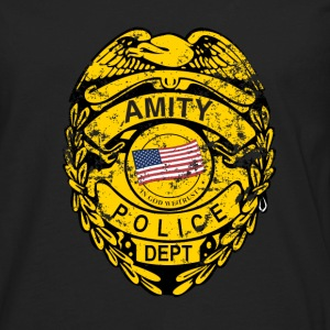 Black Amity Police Jaws T-Shirts - Men's Premium Long Sleeve T-Shirt