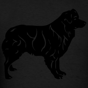 Black australianshepherd Women - Men's T-Shirt