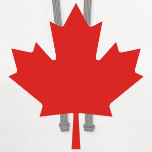 Red Maple Leaf - Contrast Hoodie