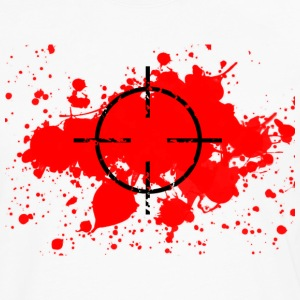 CROSSHAIRS & BLOOD SPLATTER T-SHIRT - Men's Premium Long Sleeve T-Shirt
