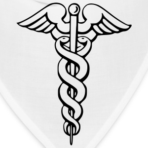 White Caduceus - Medicine - Doctor – Symbol Men - Bandana