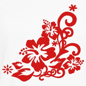 White Hibiscus – Flower – Bloom – Hawaii – Design Men - Men's Premium Long Sleeve T-Shirt